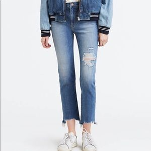 Levi's Sculpt 724 High-Rise Straight Cropped